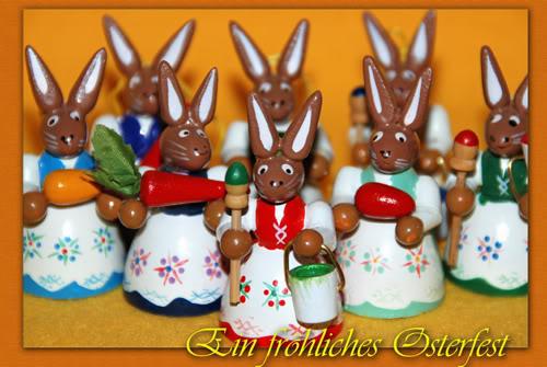 Glückwünsche, Ostern, Weihnachten .... Osterhasenbande