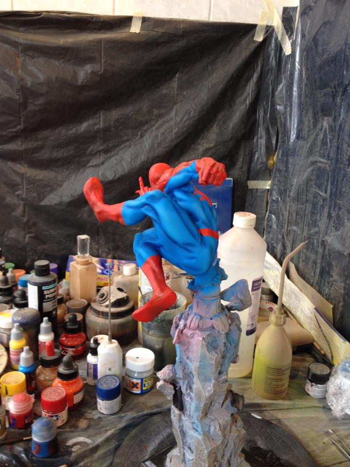 Kotobukiya Spider-Man Repaint (WIP) 10592633_338620772960928_3188107921478938124_n