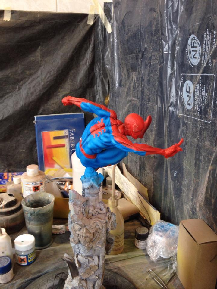 Kotobukiya Spider-Man Repaint (WIP) 10616476_338620789627593_1343439650590136319_n