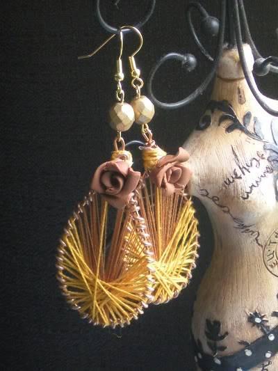How to make string Art Earrings DSCN5068