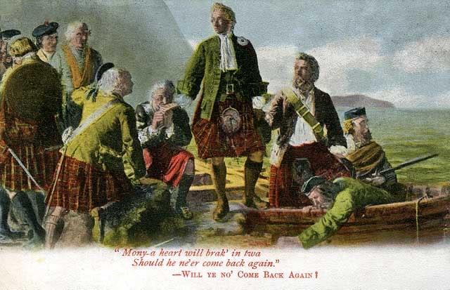 Représentations historiques du kilt 0_post_card_views_scotland_highlands_song_mony_a_heart