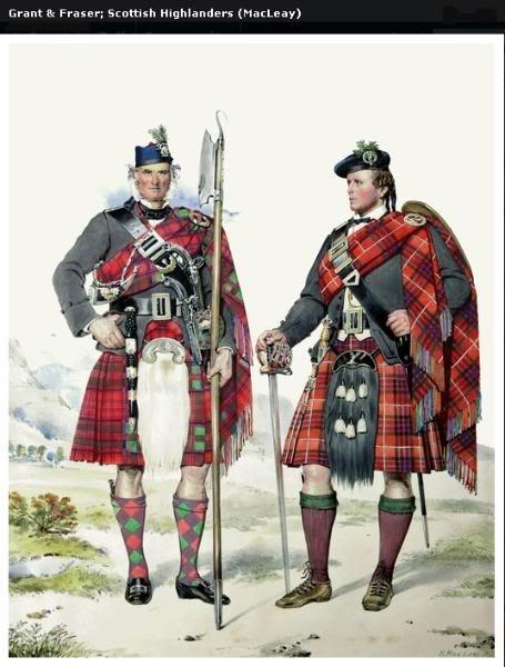 Représentations historiques du kilt Macleay1