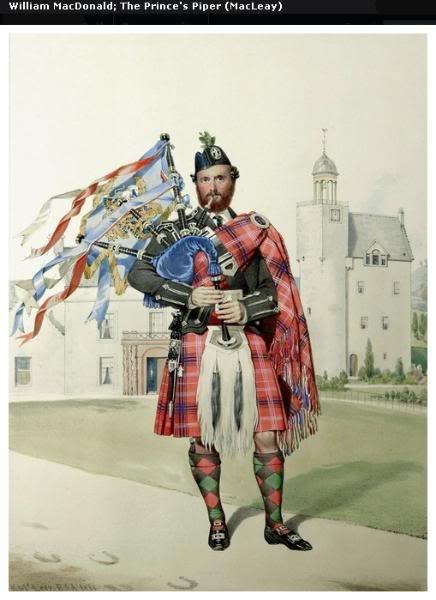 Représentations historiques du kilt Macleay10