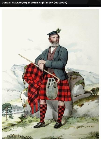 Représentations historiques du kilt Macleay11