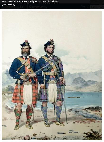 Représentations historiques du kilt Macleay12