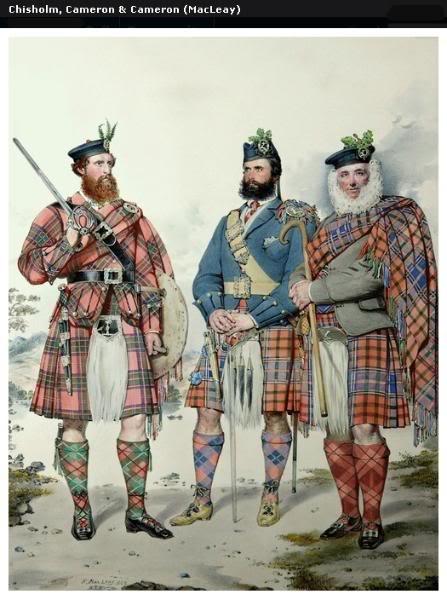 Représentations historiques du kilt Macleay13