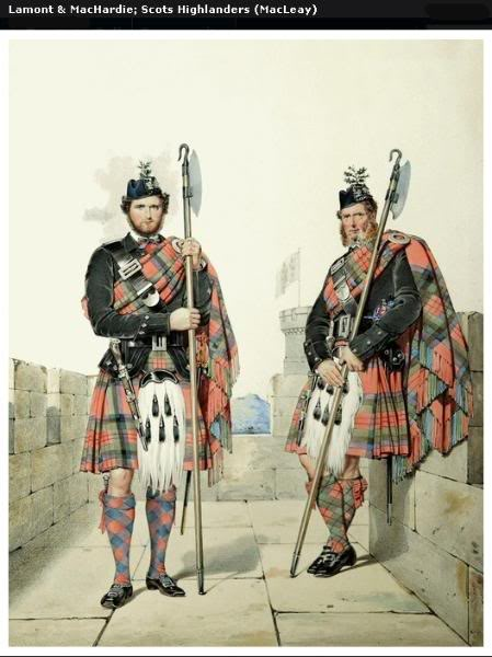 Représentations historiques du kilt Macleay14