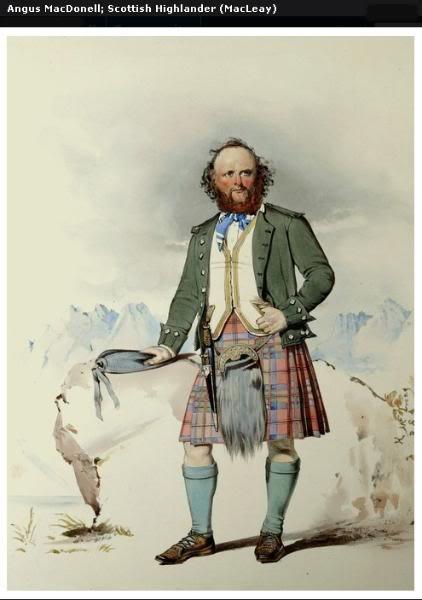 Représentations historiques du kilt Macleay15