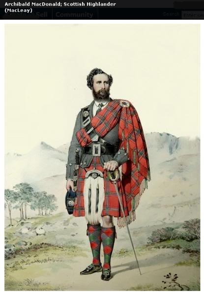 Représentations historiques du kilt Macleay16
