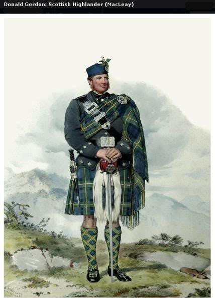Représentations historiques du kilt Macleay19