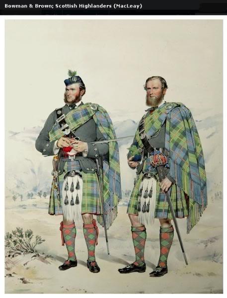Représentations historiques du kilt Macleay20