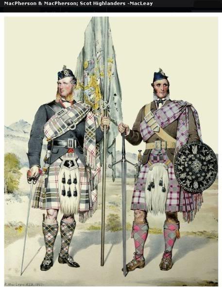 Représentations historiques du kilt Macleay22