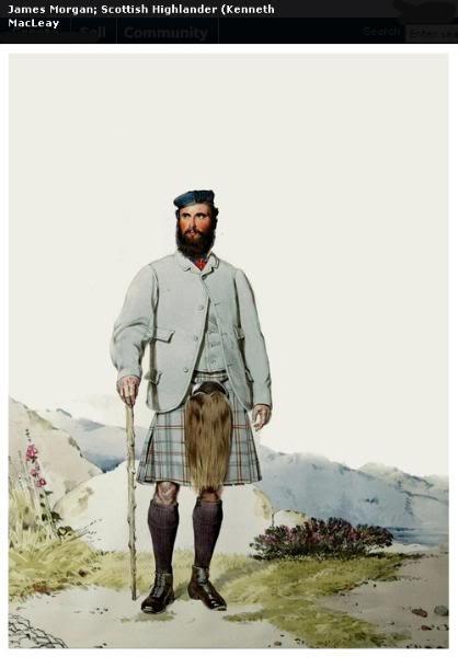Représentations historiques du kilt Macleay24