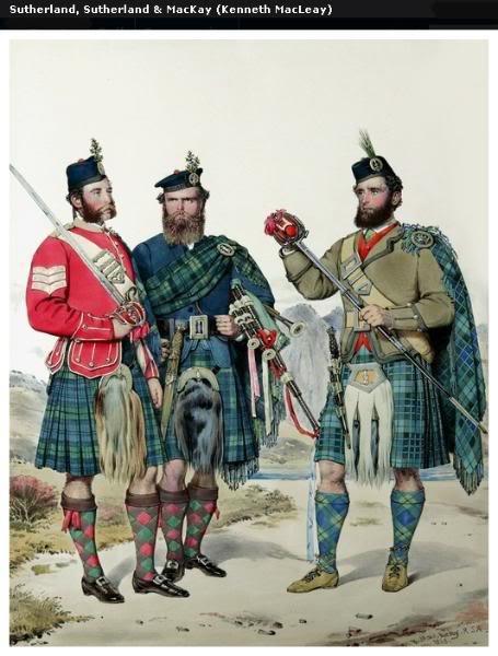Représentations historiques du kilt Macleay25