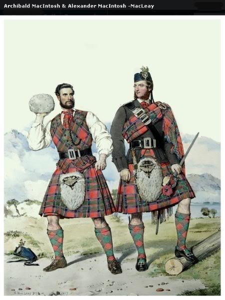 Représentations historiques du kilt Macleay28