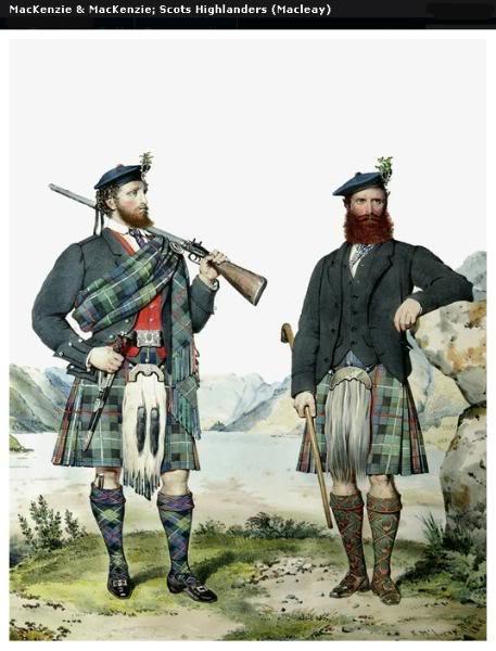 Représentations historiques du kilt Macleay29
