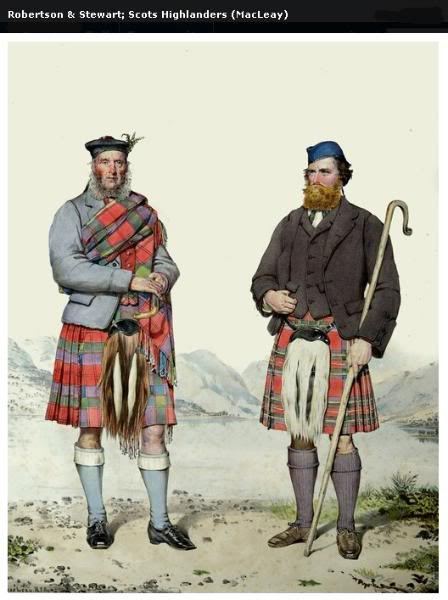 Représentations historiques du kilt Macleay31