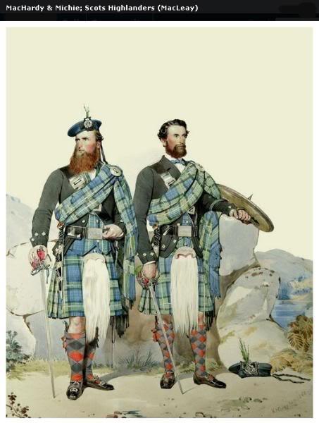 Représentations historiques du kilt Macleay33