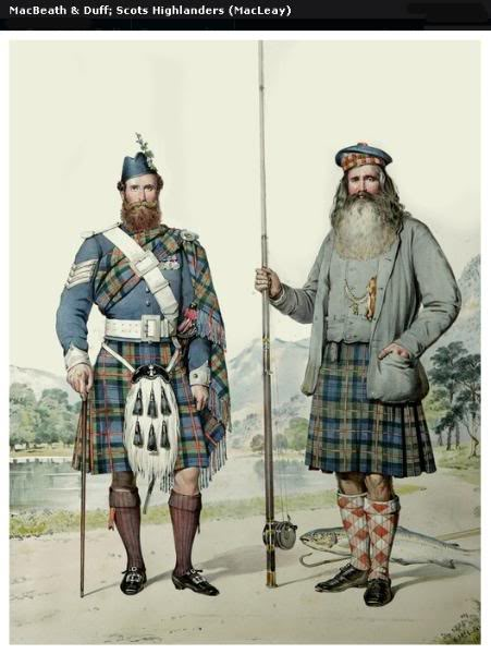 Représentations historiques du kilt Macleay4