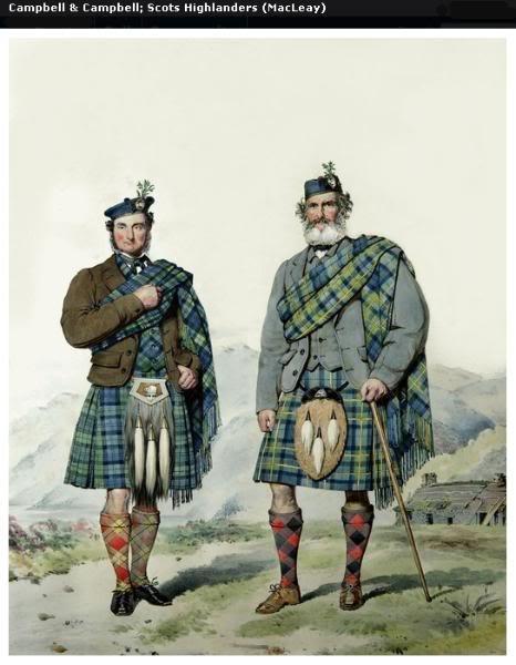 Représentations historiques du kilt Macleay5