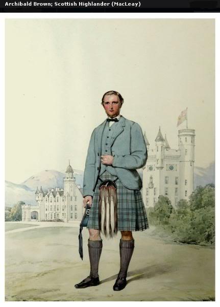 Représentations historiques du kilt Macleay8