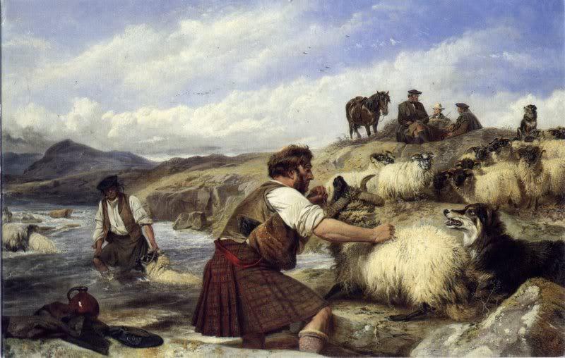 Représentations historiques du kilt SheepWashinginGlenLyon2