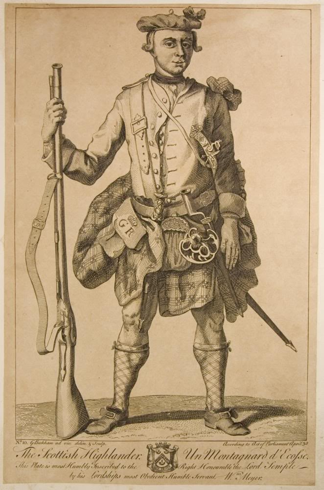 Représentations historiques du kilt A_scottish_highlander