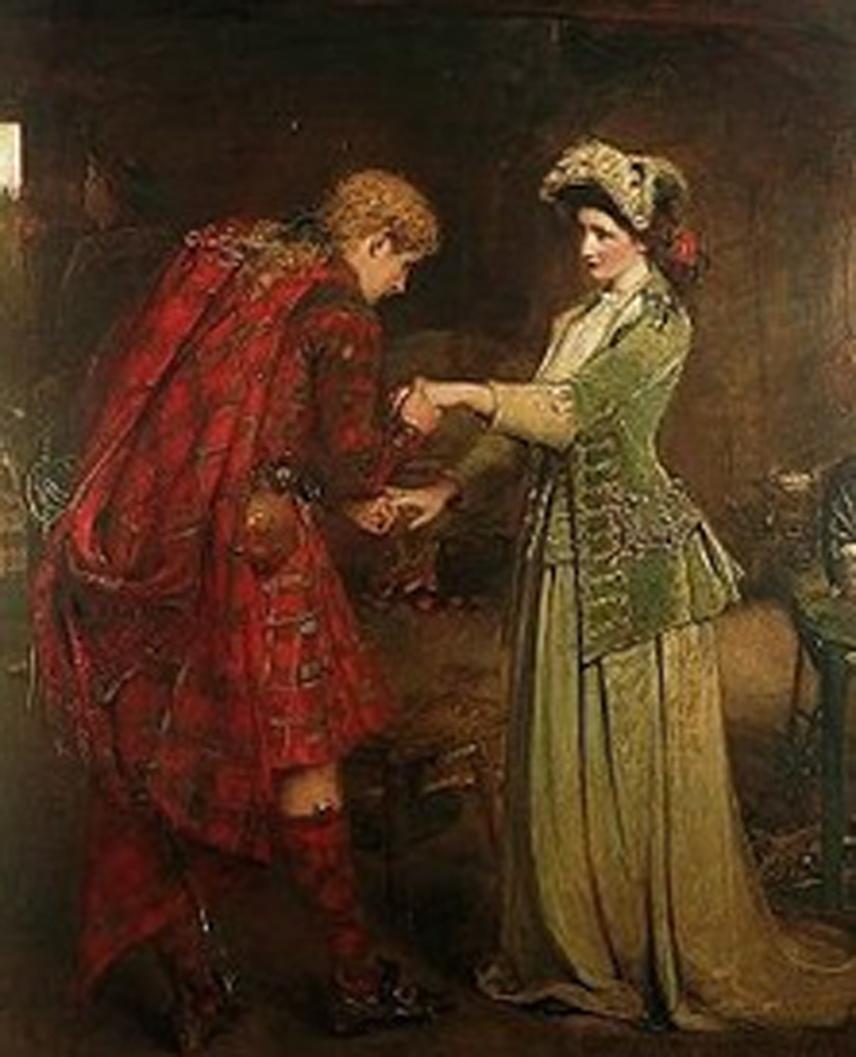 Représentations historiques du kilt Bonnie-prince-charlie-and-flora-macdonald