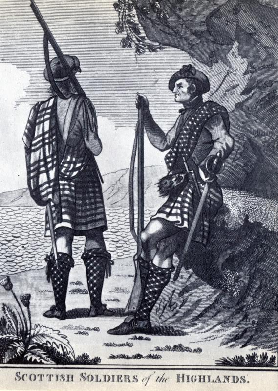Représentations historiques du kilt Lwf15