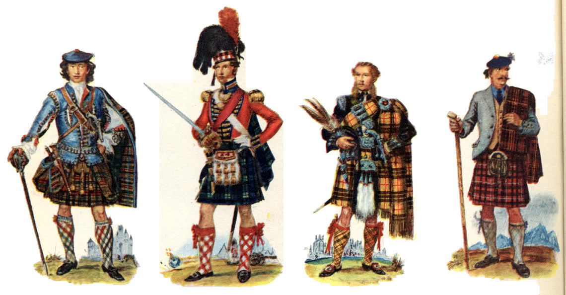 Représentations historiques du kilt Mnmnmnm