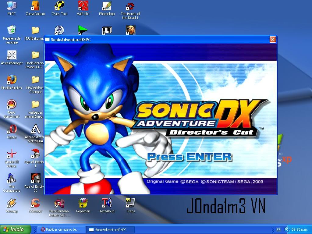 Sonic Adventure DX Principal
