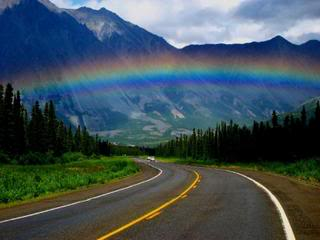 RaInBoWs-7.jpg Rainbow On A Forest And Mountain Highway image by MarilynLouise