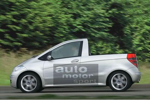Mercedes segue BMW e também deve lançar pick up esportiva Mercedes-A-Klasse-Pickup