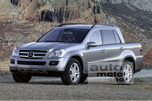 Mercedes segue BMW e também deve lançar pick up esportiva Mercedes-GL-Pickup
