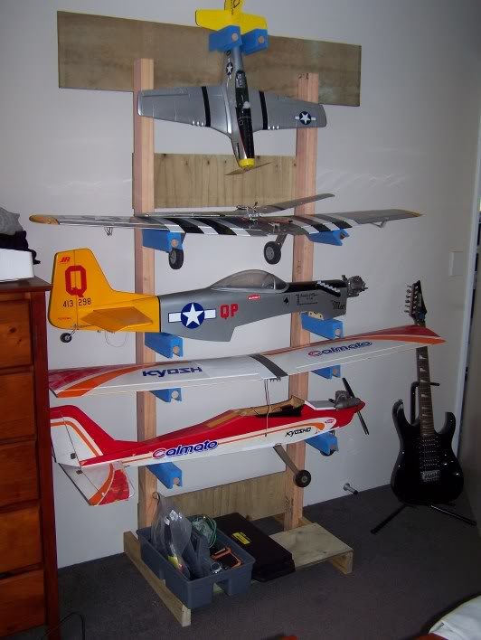 RC Plane Rack Loaded