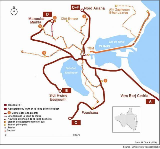 Transports urbain de Tunis Rfrmap