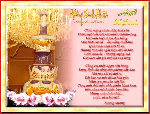 Happy Birthday To Rdinh 15/3 1SNRDinh