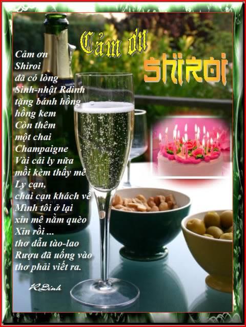 Happy Birthday To Rdinh 15/3 CamOnShiroi