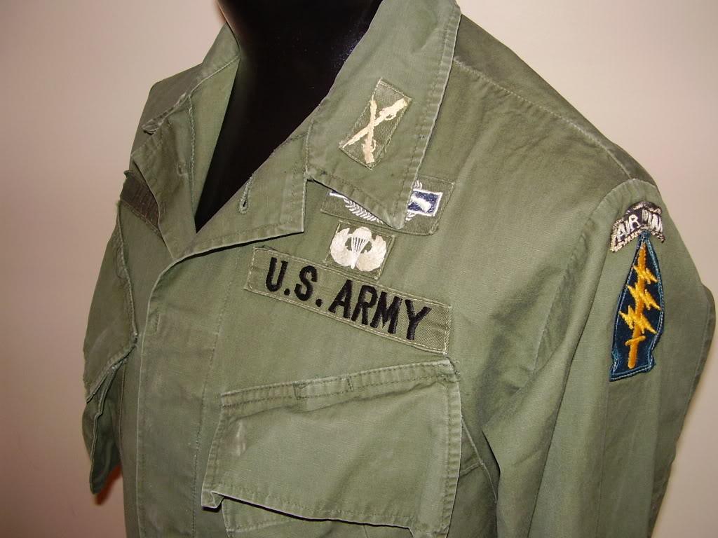 Rip-Stop Jungle Jacket of Captain David B. Havas, Commander Special Forces Det A-433 1968-69. Uniforms327