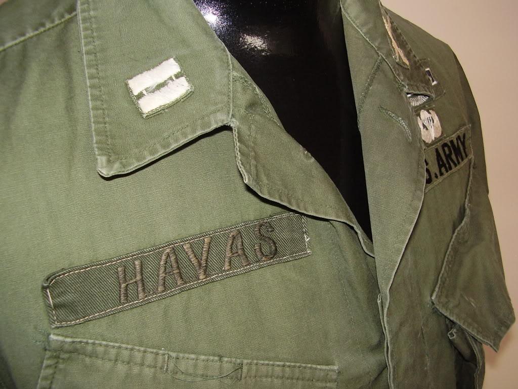 Rip-Stop Jungle Jacket of Captain David B. Havas, Commander Special Forces Det A-433 1968-69. Uniforms328