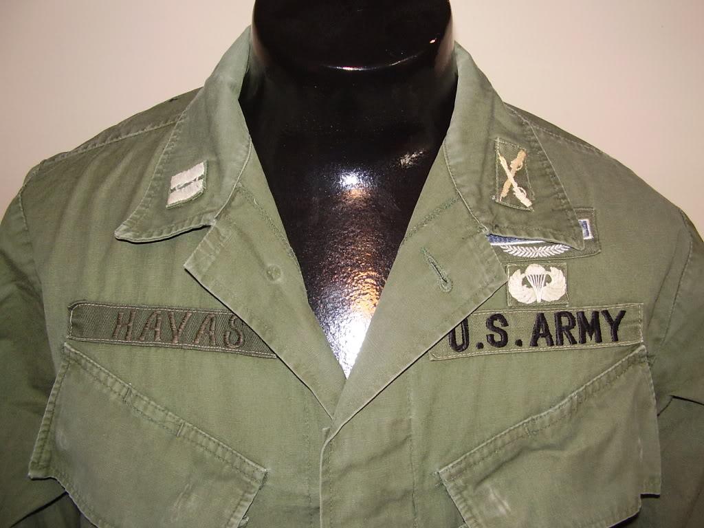 Rip-Stop Jungle Jacket of Captain David B. Havas, Commander Special Forces Det A-433 1968-69. Uniforms332