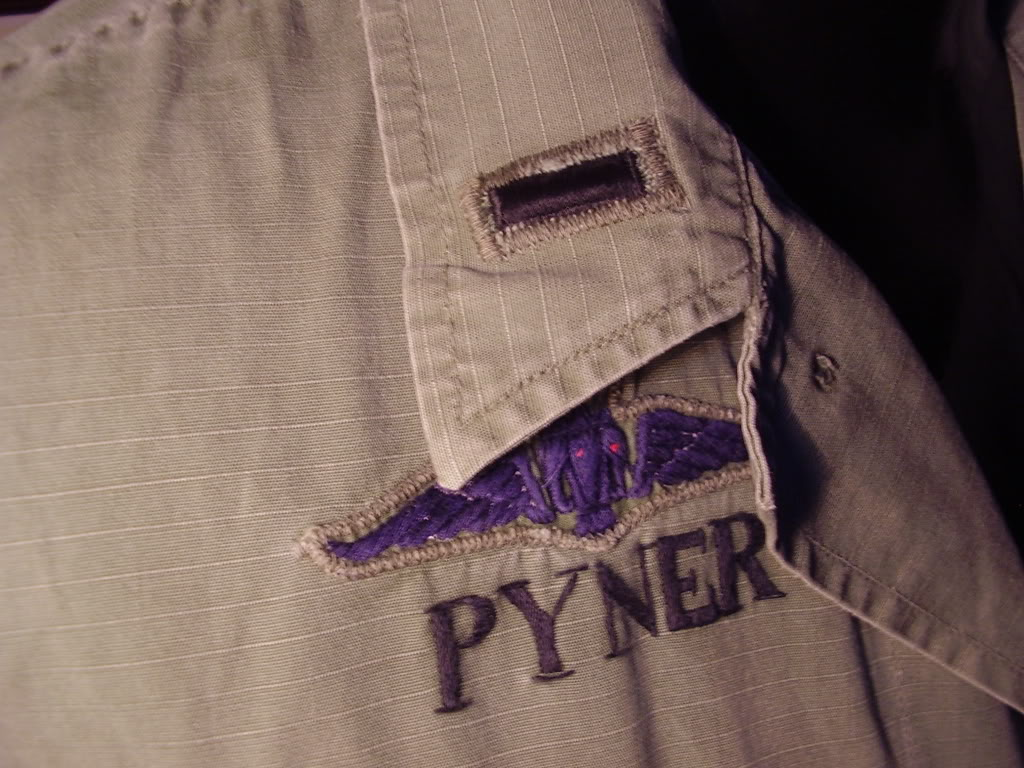 Rip-stop Jungle Jacket of 1st Robert L. Pyner, Assistant S-4 of 46th Special Forces Co. 1969-70. Uniforms382
