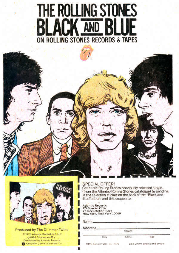 Black And Blue (1976) 1976RollingStonesBlackAndBlueComicB