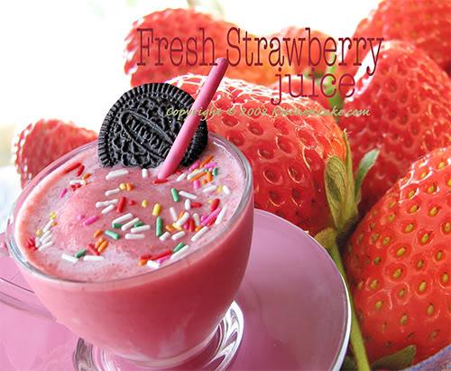 الفراولة ~ صحة وعافية  01StrawberryJuice