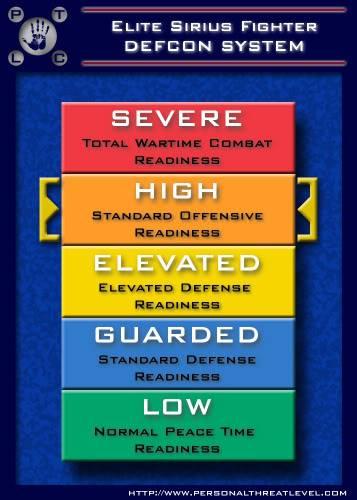Make ur own Threat level WartimeReadinessHIGH