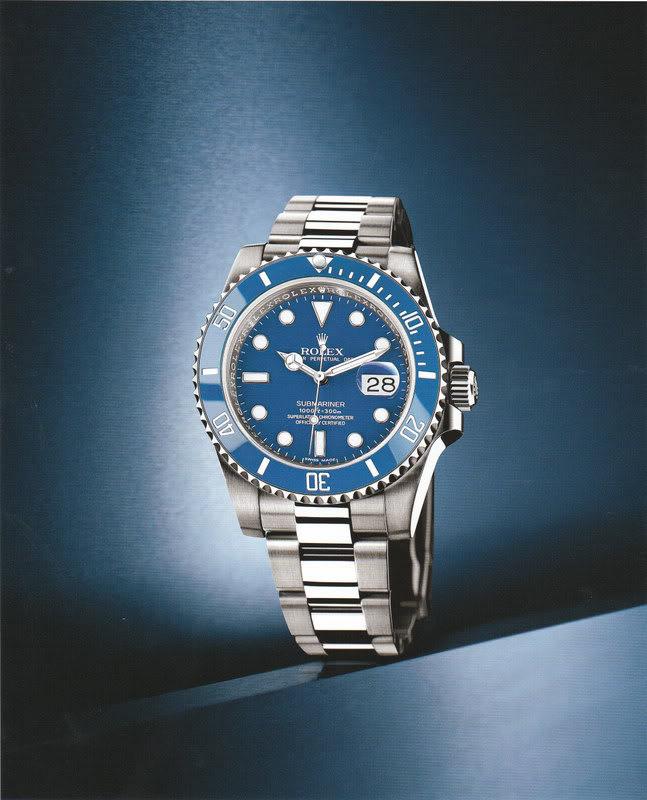 Liste des montres à lunette céramique Submarinerwhitegold