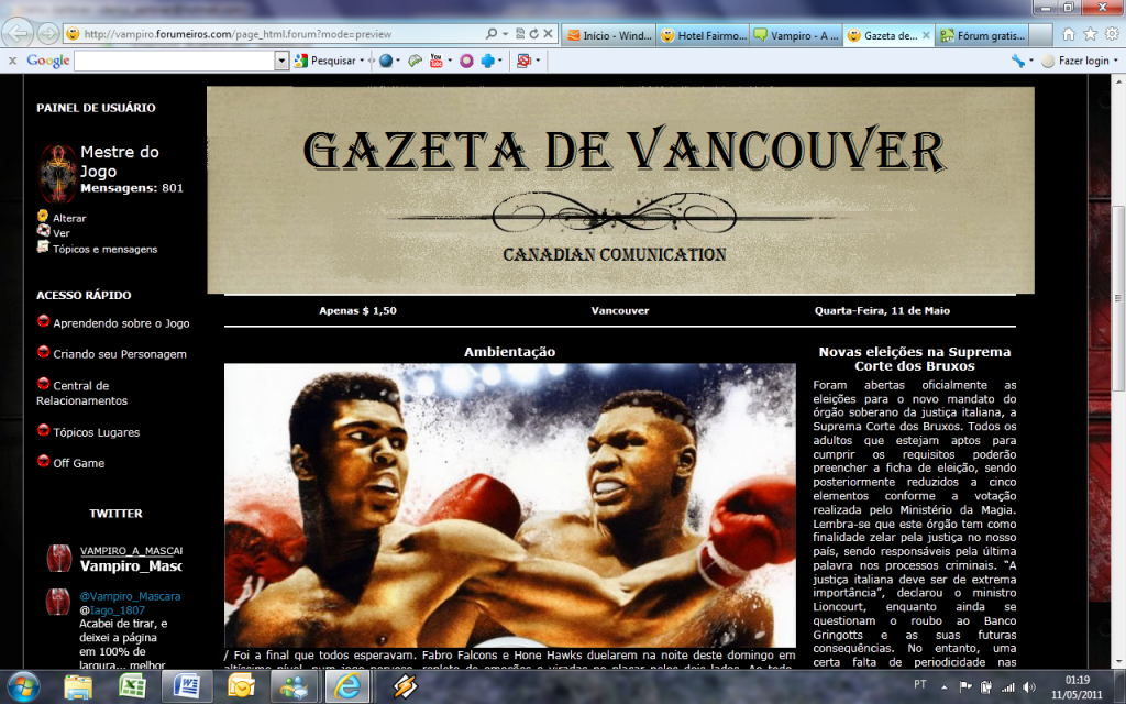 Cor de fundo numa página HTML Exemplo2