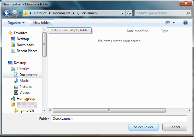 """[Guide] Windows 7 """"Quick Launch"""" Toolbar 2a"""