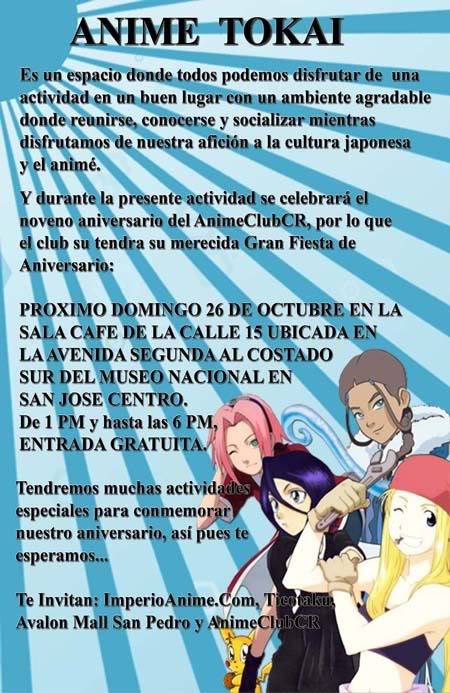 Comunicado Oficial sobre Celebracion del Cumpleaños del ACCR Afiche-26deoctubreparapostear