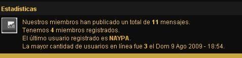 Vitas Argentina (usuarios nuevos bienvenidos!!) Estadisticas